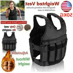 50kg adjustable workout weighted vest exercise strength