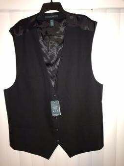 Big & Tall Solid Bedford Suit Vest  Size 4X
