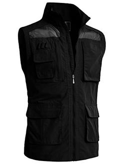 H2H Mens Casual Work Wear Utility Hunting Travels Sports Ves