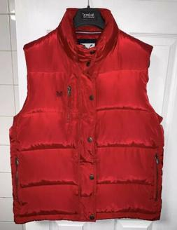 Crew Clothing Co. Men Red Duck Down/feather Red Puffy Vest S