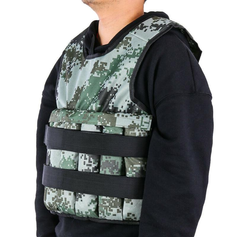 Exercise Weight Vest Weighted Adjustable Fitness Sports 44lbs