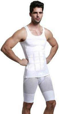 GKVK Mens Slimming Body Shaper Vest Shirt Abs Abdomen Slim,,