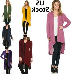 Maxi Cardigan Open Front Duster Long Sale Clearance US Fashi