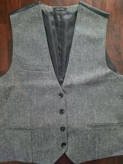 Ruth & Boaz Gray Wool Vest, Mens Size M, Four Button BRAND N