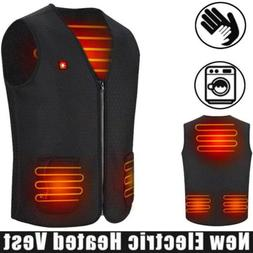 USB Electric Vest Heated Clothing Men Jacket Warm Heated Pad